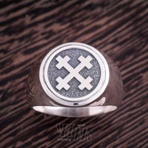 Перстень Крест Мары - серебро