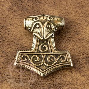 Молот Тора из латуни
